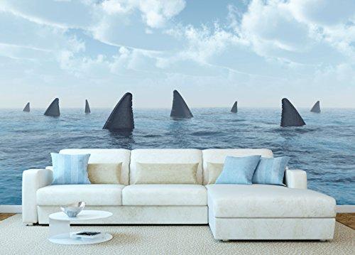 Oedim Fotomural Vinilo Grupo de Grandes Tiburones Blancos | Fotomurales | Fotomural...