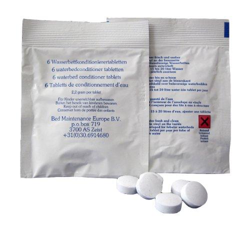 12 x B.M. Europe Konditionierer-Tabletten für Wasserkopfkissen, Wasserbett-Schlauchsysteme