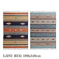 ラグ モリヨシ MORIYOSHI ロニ約100×140cm LONI マット 絨毯 じゅうたん カーペット SAX
