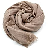 Wrap Shawls,YOBOKO Pure Color Womens Fashion Long Scarf for Beach Outdoor Camping Traveling (200 x 130cm)