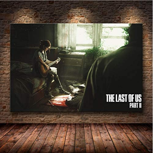 PCWDEDIAN The Last of Us Gioco Stampa Poster Zombie Survival Horror Azione HD Poster Tela Pittura Modern Home Decor per Wall Art M289 40X50Cm