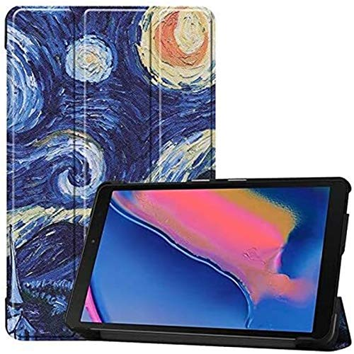 LCM Cajas De Tabletas para Samsung Galaxy Tab a 8.0 Inch, Búho Mariposa Flor Dandelion Eiffel Tower Design Smart Tablet Funda Stand Stand, Modelo SM-P200 / SM-P205 (Color : 5)