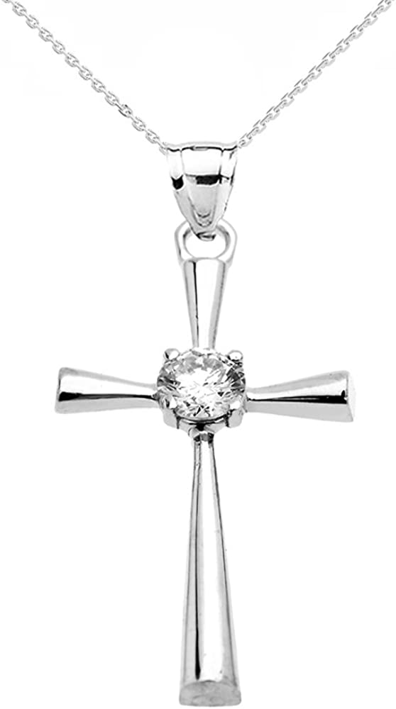 Religious Jewelry by Animer and price revision FDJ Beautiful 14k Beauty products Cubi White Gold Solitaire