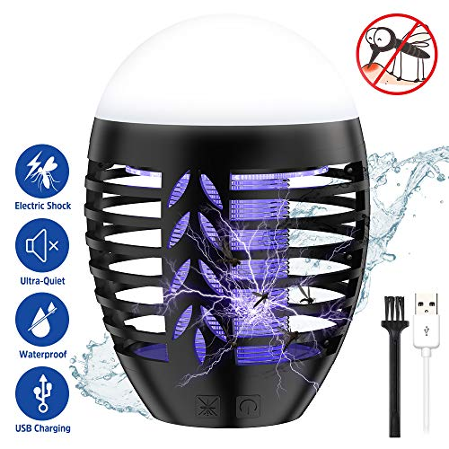 Nobebird elektrische Insektenvernichter und Campinglampe Wasserdicht Mückenfalle Camping Mückenlampe