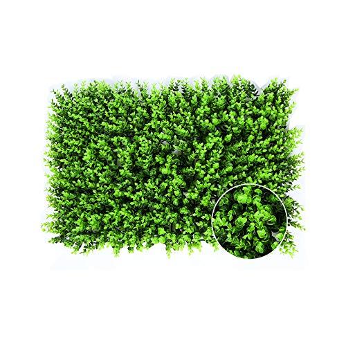 LOVCCIE Efeu Künstlicher Heckenzaun, Künstlicher Grüner Pflanzenteppich Künstlicher Eukalyptusblatt-Hofgartenhochzeitsterrasse Pflanzendekoration 24 × 15,7