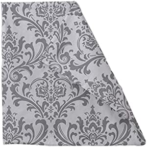 Grey Storm Soft Damask Floral Floral Pattern Print Premier Prints 100% Twill Cotton Traditions Fabric Reversible Small Large Decorative Toss Throw Pillow Covers Hidden Zipper 22x22