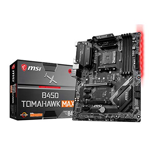 MSI B450 TOMAHAWK MAX AMD AM4 DDR4 m.2 USB 3.2 Gen 2 HDMI ATX Gaming Motherboard