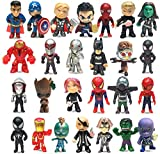 Superhero Mini Action Figures Sets for Kids, Cupcake Figurines for Birthday Party, Party Favors Set, Super Hero Theme Party Supplies(B-26 PCS)