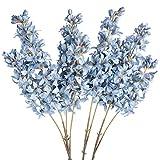 Artificial Flowers 4PCS Fake Hyacinth Flowers Kalolary Bouquet Long Stem Silk Blue Hyacinth Flower Handmade Bouquets for Home Garden Restaurant Wedding Party Decoration(39.37 inch)