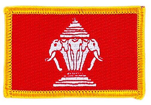 Aufnäher zum Aufbügeln, bestickt mit der alten Flagge von Laos