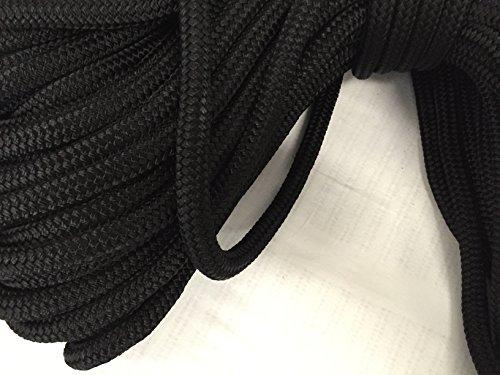 1/2 inch by 200 Feet Black Double Braid Nylon Rope