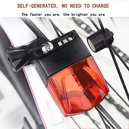 CYSHAKE Fahrradrücklicht Wasserdicht Magnetische Induktion Stromerzeugung Ultrahelles Fahrradlicht Warnung Kompakte Fahrradrückleuchte