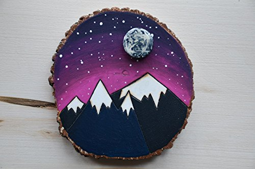 Wood Mountain Moon Wall Art