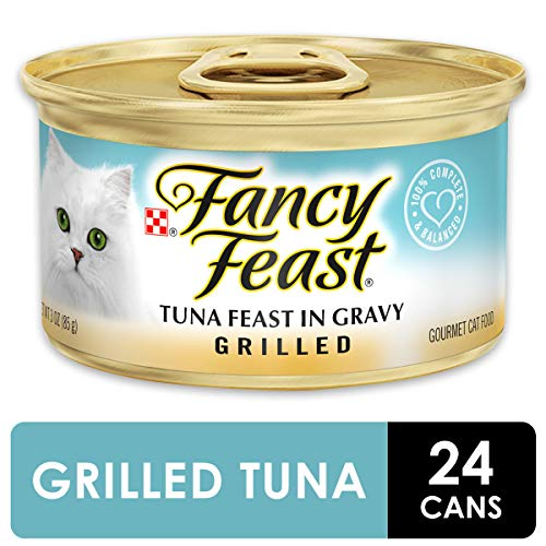 Purina Fancy Feast Gravy Wet Cat Food, Grilled Tuna Feast - (24) 3 oz. Cans