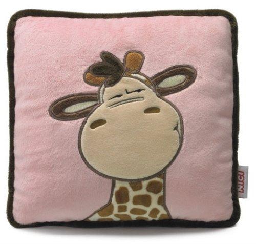 Nici 27851 - Kissen Giraffe 25 x 25 cm, quadratisch