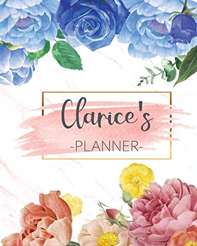 Clarice's Planner: Monthly Planner 3 Years January - December 2020-2022   Monthly View   Calendar Views Floral Cover - Sunday start