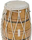 DHOLAK DRUM Folk Wedding-Kirtan Dholak/Dholki Traditional Musical Instrument WITH GIG BAG