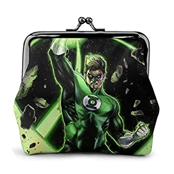 Sci-Fi G-reen Lan-tern Coin Purse Tourist Coin Purse With Metal Clasp Fashion Luxury Leather Wallet Classic Exquisite Pouch bag Key Holder