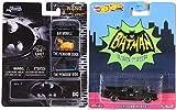 Black TV Ride Premium Batmobile {Batman} Television Series car Bundled with Nano Hollywood Rides Mini Penguin Duck Pack + HW Arkham Knight + Dark Knight Bat Editions 2 Items