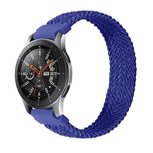 Lwwhama Flyuzi 22mm 20 mm banda de reloj de bucle solitario para Samsung Galaxy 3 Watch 42 46mm Gear S3 Active2 Clásico Relojamiento rápido Nylon Banda trenzada ( Band Color : Blue , Size : 20mm )
