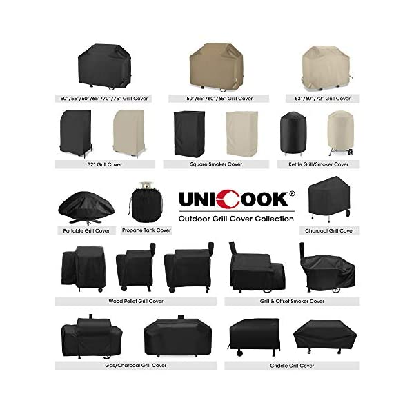 Unicook 2 Burner Barbecue Cover, Heavy Duty Waterproof Outdoor BBQ Grill Cover, Fade and UV Resistant Oxford Fabric… 1