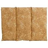 Saco térmico compartimentado en 3 con huesos de ceresas 40x30 cm - batik oro -...