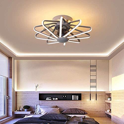 Bkrred Ventilador de techo ligero colgante moderno con iluminación, ventilador de techo ajustable de velocidad de luz ajustable con control remoto 112W lámpara colgante ligera lámpara de techo Luz col