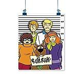 Xlcsomf Scooby Pintura al óleo para niños de dibujos animados Scooby Doo para decoración de sala de estar, sin marco, 30,5 x 45,7 cm