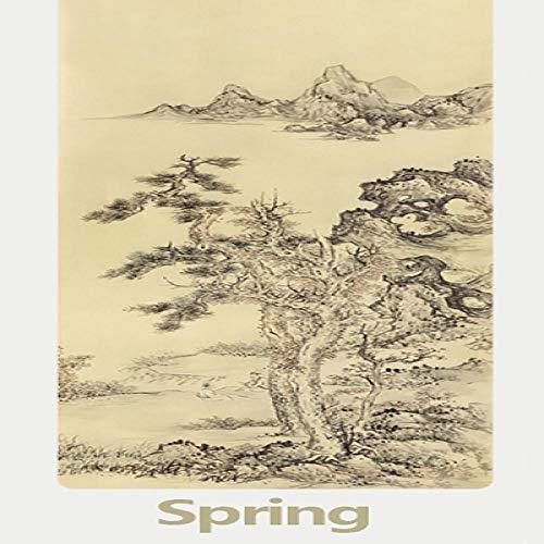 Estera de Yoga 183 * 66 * 0.5Cm Suede TPE Yoga Mat Chinese Landscape Fitness Gym Ejercicio Workout Mat Pad Antideslizante Ambiental Picnic Manta Primavera