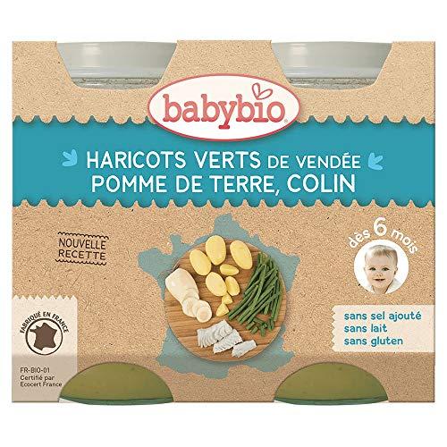 Babybio - Petits Pots Menu Du Jour Des 6 Mois 2x200g Babybio - Pomme De Terre Haricots Verts Et Colin