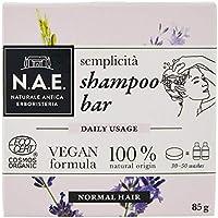 N.A.E. Shampoo Solido Semplicità, Shampoo Bar Ecologico e Vegano per Capelli Normali, con Estratti di Lavanda Biologici,...