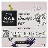 N.A.E. Shampoo Solido Semplicità, Shampoo Bar Ecologico e Vegano per Capelli Normali, con Estratti di Lavanda Biologici, 85 g