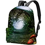 Staroutah sac à dos sac à dos sac à dos sac d'école randonnée sac à dos Haute capacité et mignon en plein air Apprendre Magie vieille nature forestière pour femme et homme