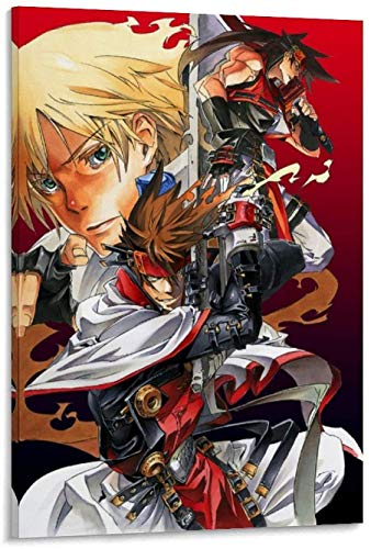 Frameless decorative painting Guilty Gear Accent Core Plus Poster Decorative Canvas Wall Art Living Room Posters Bedroom 08x10inch(20x25cm)
