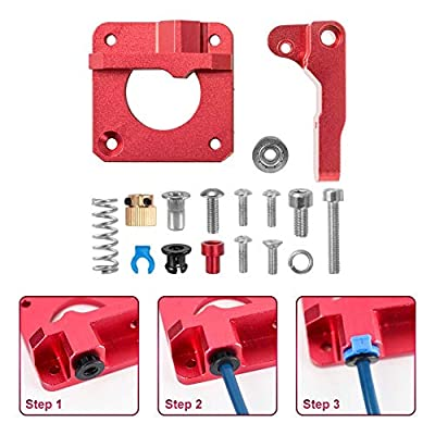 Sovol Ender 3 Creality 3D Upgrade Replacement MK8 Extruder Aluminum Alloy Block Bowden Extruder 1.75mm Filament for Ender 3, Ender 3 Pro, Ender 3X, CR-10, CR-10S, CR-10S4 and CR-10S5
