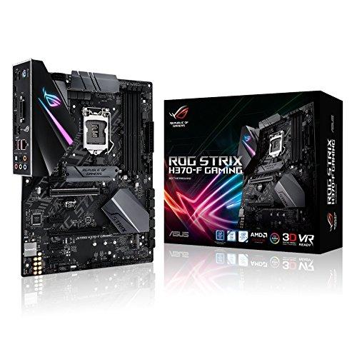 Asus Rog Strix H370-F Gaming Mainboard Sockel 1151 (ATX, Intel H370, DDR4, dual M.2 mit integriertem Kühler, 6Gbit/s SATA, USB 3.1 Gen 2, Aura Sync)