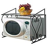 Warmiehomy Rack de Horno de Microondas, Estante de Microondas, Estante de Metal para Horno de Cocina, Estable