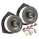tomzz Audio 4019-002 Kit de instalación de Altavoces Adecuado para el Kia Picanto Sportage Hyundai i10 i20 Sistema coaxial de 165mm TA16.5-Pro