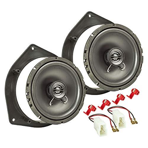 tomzz Audio 4019-002 Lautsprecher Einbau-Set passend für Kia Picanto Sportage Hyundai i10 i20 165mm Koaxial System TA16.5-Pro