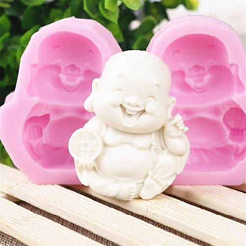 Hengsong Belle Maitreya Bouddha Silicone Fondant Moule Chocolat Moule Gâteau Fondant DIY Silicone Moule Cuisine Ustensiles De Cuisine