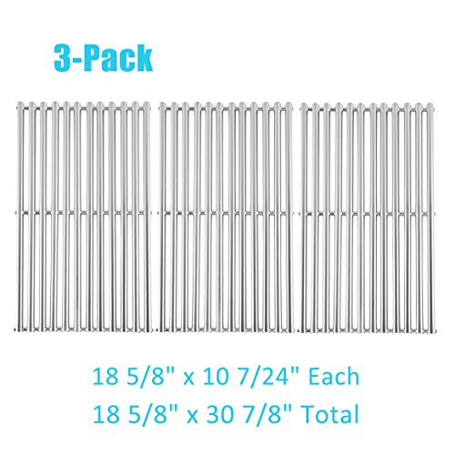 """BBQration 3-Pack Stainless Steel Half-Tube Design 18 5/8"""" x 10 7/24"""" Each Cooking Grid Replacement for Select Gas Grill Models by Kenmore, Master Forge, Members Mark and Others Grates Grids"""