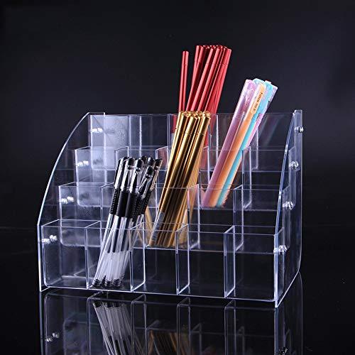 Portapenne in acrilico trasparente, per cancelleria e pennelli, espositore da scrivania, organizer Portapenne a quattro strati