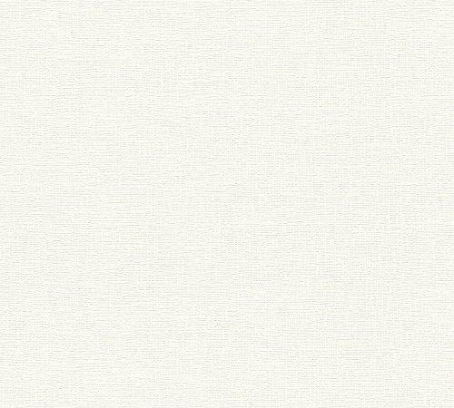 A.S. Création Vliestapete Meisterputz Tapete Unitapete 15,00 m x 0,53 m weiß Made in Germany 336910 3369-10