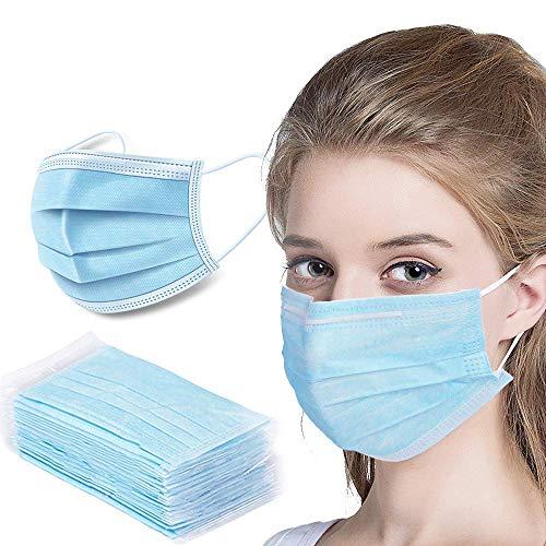 50 stycken Northern Linen munmask munnen nässkydd mask frakt från Tyskland, fleece-filter 3-lager/förebyggande mot stänk och droppkontakt i mun- och näsområdet