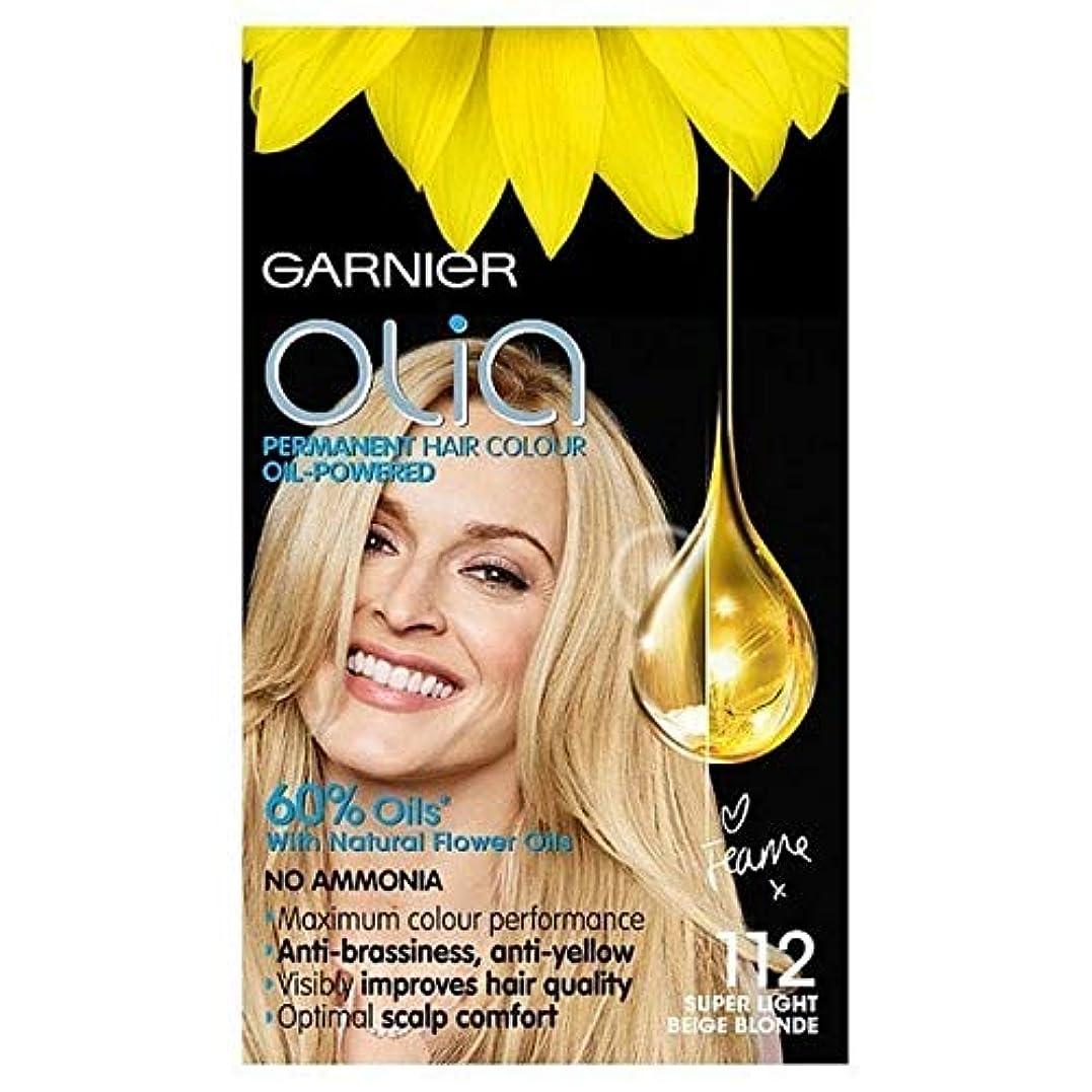 電気の静脈脅かす[Garnier ] ガルニエのOlia永久染毛剤スーパーライトベージュブロンド112 - Garnier Olia Permanent Hair Dye Super Light Beige Blonde 112 [並行輸入品]