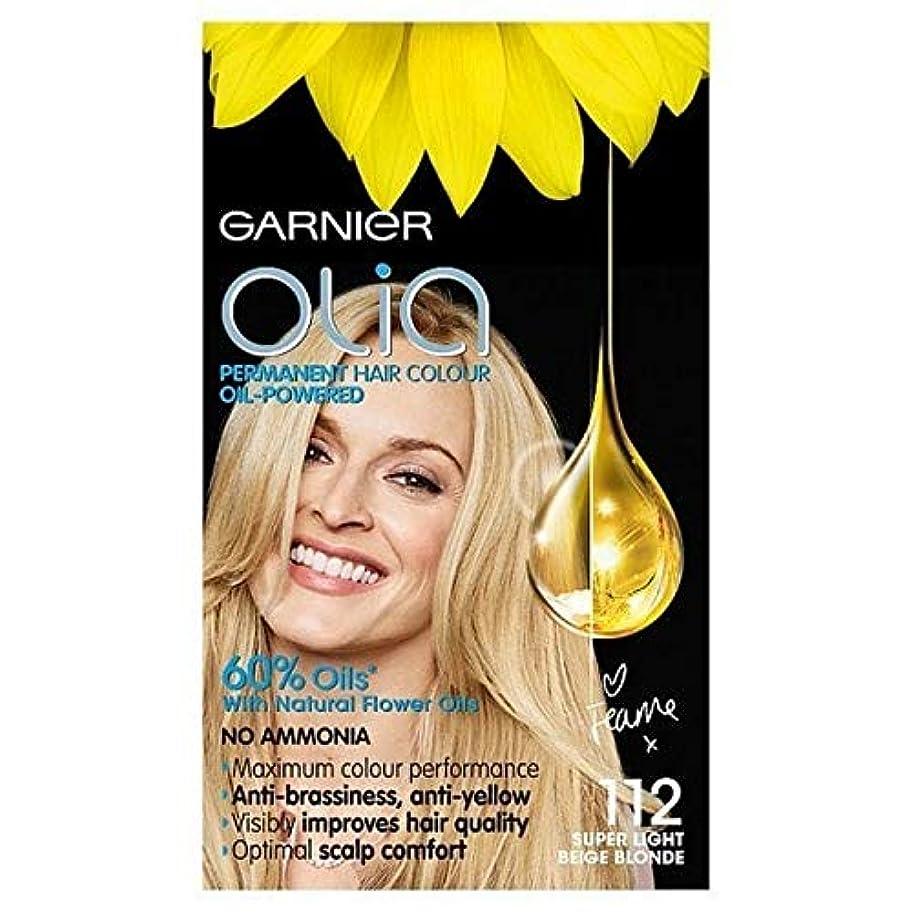 動作昇る枯渇する[Garnier ] ガルニエのOlia永久染毛剤スーパーライトベージュブロンド112 - Garnier Olia Permanent Hair Dye Super Light Beige Blonde 112 [並行輸入品]