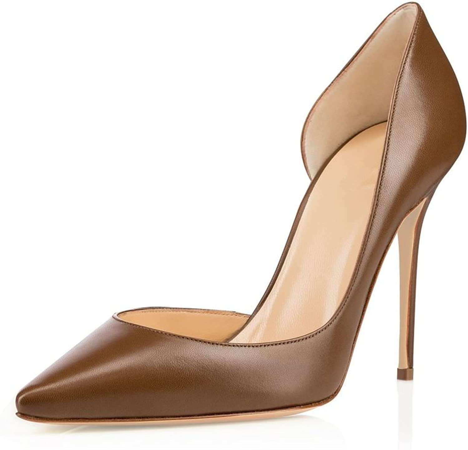 Sammitop Women's Pointed Toe Pumps High Heel D'Orsay shoes Stilettos Two-Pieces Dress shoes