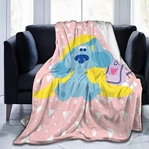 zhenglongbaihuodian Superweiche leichte Wurfdecke Blasen-Clipart-Blues-Hinweis Sommerdecke für Bett Couch Sofa 60 'X50' Medium für Teenager