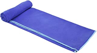 Mintra Sports Microfiber Swimming Towel with Carrying Bag - Dark Blue, 110 cm - 175 cm