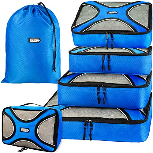 Premium Packing Cubes for Travel, Luggage and Suitcase - 6 Set Travel Packing Cube